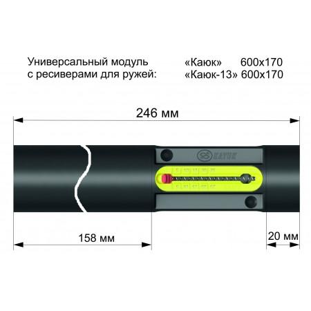 01093 Ресивер 246 мм с модулем с индикатором давления 18х40